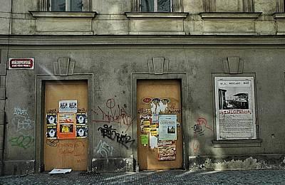 Door Photograph - Prague Graffiti by Steven Richman