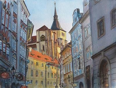 Czech Republic Painting - Prague by Henrieta Maneva