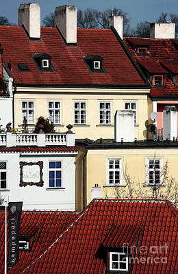 Old School Houses Photograph - Prague Houses by John Rizzuto