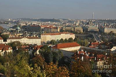 Prague Digital Art Digital Art - Prague Landscape Czech Republic by Anthony Morretta