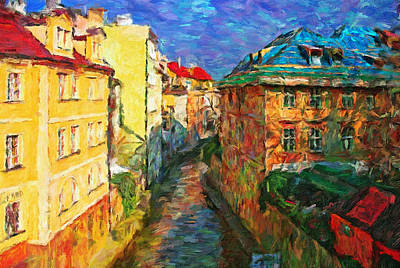 Prague Like Venice Art Print by Yury Malkov