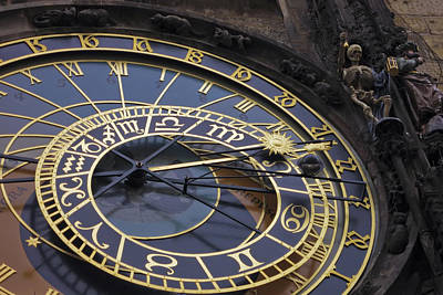 Astronomical Art Photograph - Prague Orloj by Adam Romanowicz