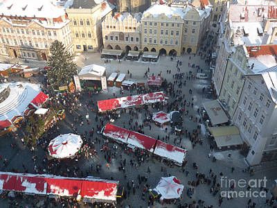 Winter Photograph - Prague Shoppers by Deborah Smolinske