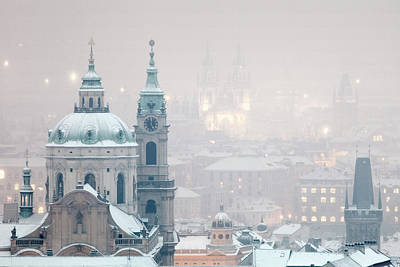 Prague Photograph - Prague - St. Nicholas Church And Spires by Panoramic Images