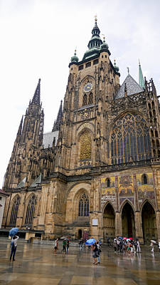Photograph - Prague-st Vitus Cathedral by Herb Paynter