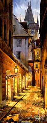 Prague Street Melantrichova Art Print by Dmitry Koptevskiy