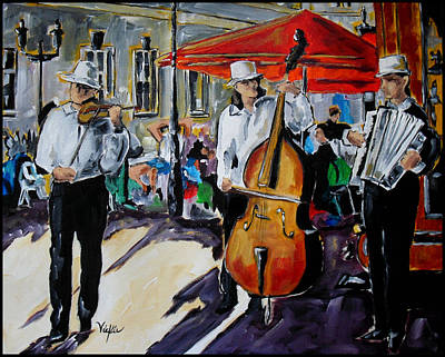 Painting - Prague Street Music II by Vickie Warner