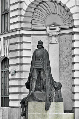 Photograph - Prague - The Iron Man From A Long Time Ago And A Country Far Far Away by Christine Till
