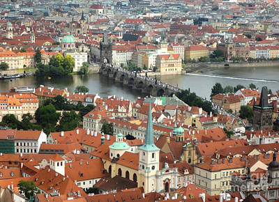 Prague - View From Castle Tower - 03 Art Print by Gregory Dyer