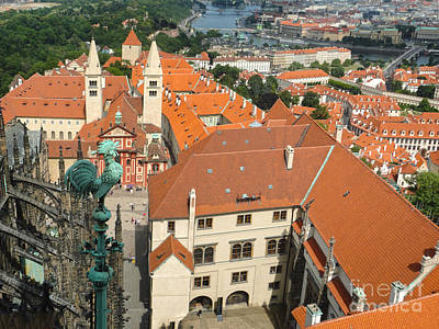 Prague - View From Castle Tower - 04 Art Print by Gregory Dyer