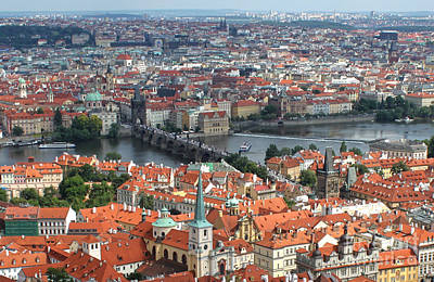 Prague - View From Castle Tower - 05 Art Print by Gregory Dyer
