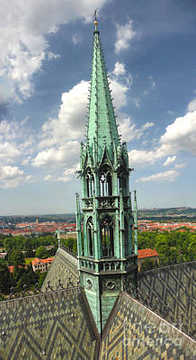 Prague - View From Castle Tower - 07 Art Print by Gregory Dyer