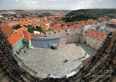 Prague - View From Castle Tower - 08 Art Print by Gregory Dyer