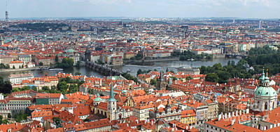 Prague - View From Castle Tower - 09 Art Print by Gregory Dyer