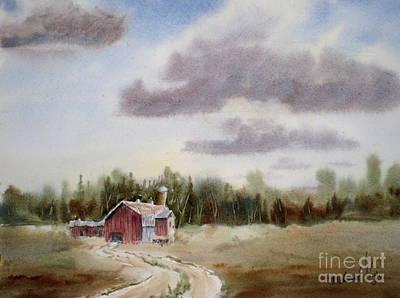 Old Barn Painting - Prairie Barn 2 by Mohamed Hirji