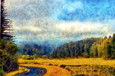 Digital Art - Prairie Creek Meadow by Kaylee Mason