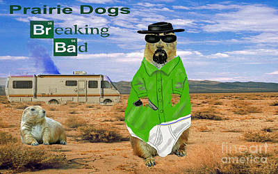 Digital Art - Prairie Dogs Breaking Bad by Jim Fitzpatrick