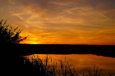 Photograph - Prairie Harvest Sunset by Blair Wainman