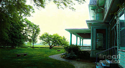 Side Porch Painting - Prairie Home Porch by Jackie Case