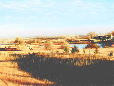 Bison Digital Art - Prairie Home South Dakota by Cathy Anderson