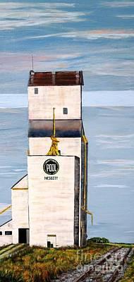 Prairie Icon - Manitoba Pool Elevator Art Print by Marilyn  McNish