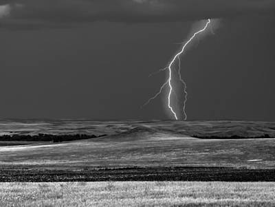 Photograph - Prairie Lightening by HW Kateley