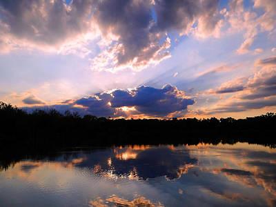 Photograph - Prairie Oaks Sunset June 2012 by Beth Akerman