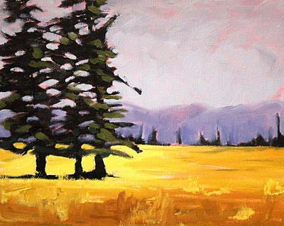 Sunriver Painting - Prairie Pines by Nancy Merkle
