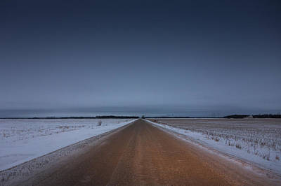 Winter Roads Photograph - Prairie Road by Bryan Scott
