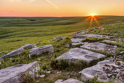 Art Print featuring the photograph Prairie Rocks by Scott Bean