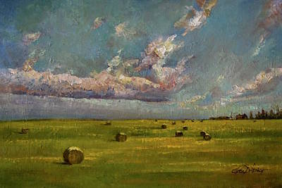 Oil Painting - Prairie Sky by Guo Quan Zheng