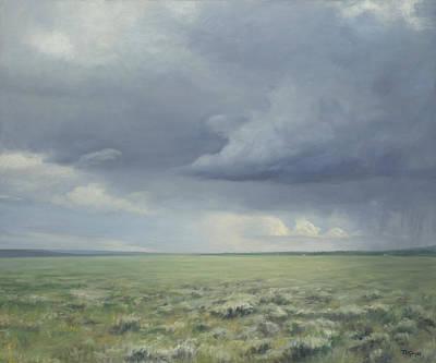 Moody Painting - Prairie Storm by Terry Guyer