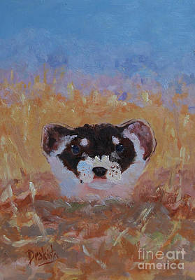 Black-footed Ferret Painting - Prairie Sunrise by Alicia Drakiotes