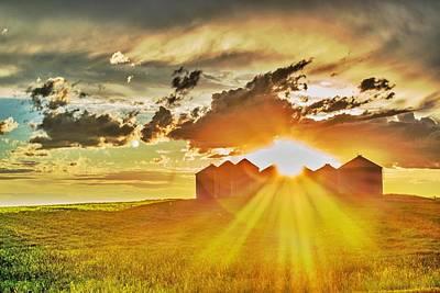 Prairie Sunset Photograph - Prairie Sunset by Dwayne Schnell