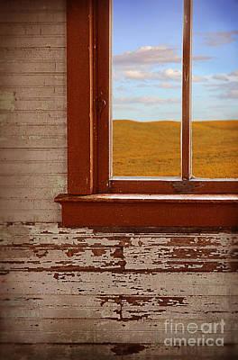 Photograph - Prairie View Out Window by Jill Battaglia