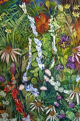 Painting - Prairie Web by Helen Klebesadel