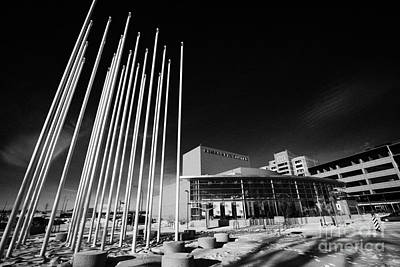 Installation Art Photograph - prairie wind sculpture outside the remai arts centre Saskatoon Saskatchewan Canada by Joe Fox