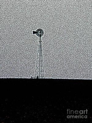 Photograph - Prairie Windmill by David Bearden