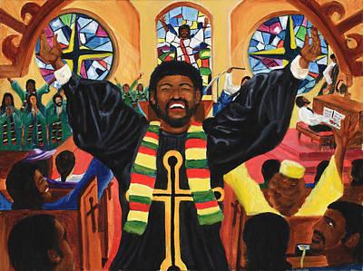 Praise Him Art Print by Lawrence Childress