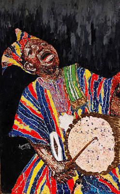 Yoruba Painting - Praise Singer by Oke Agoreyo