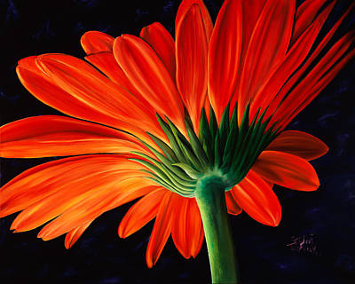 Gerber Daisy Painting - Praise by Stephen Kenneth Hackley