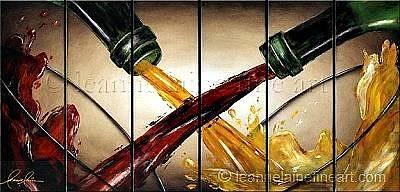 Wine Rack Painting - Praising Pinot Wine Art Painting by Leanne Laine