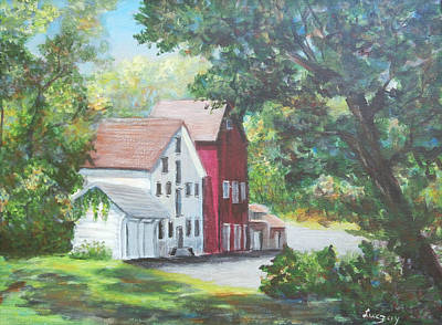 Painting - Prallsville Mill  by Luczay