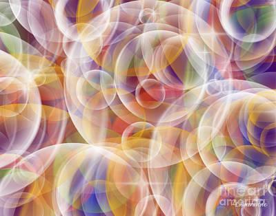 Sphere Painting - Prana Bubbles  by Louise Lamirande
