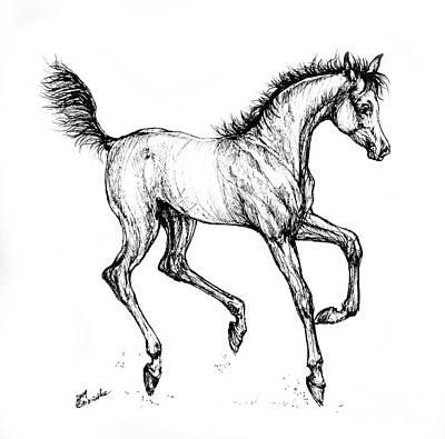 Prancing Foal Art Print by Angel  Tarantella
