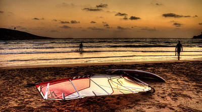 Art Print featuring the photograph Prasonisi - A Day Of Windsurfing Is Over by Julis Simo