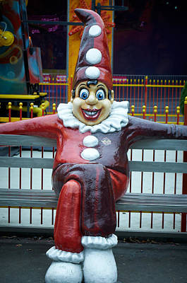 Photograph - Prater  Clown by Blaise Pellegrin