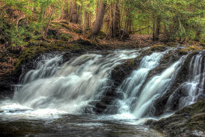 Photograph - Pratt Brook Falls by John Meader