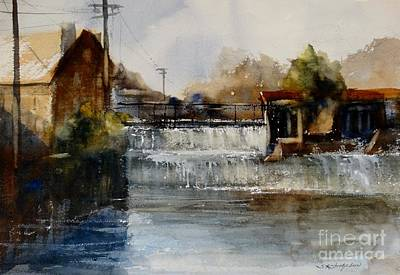 Cotton Gin Painting - Prattville Cotton Gin by Sandra Strohschein