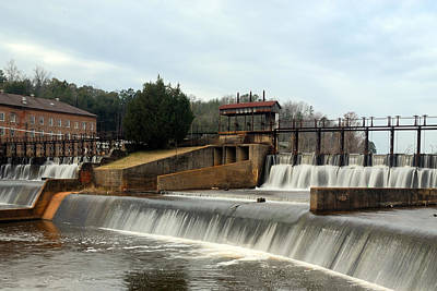 Art Print featuring the photograph Prattville Dam Prattville Alabama by Charles Beeler